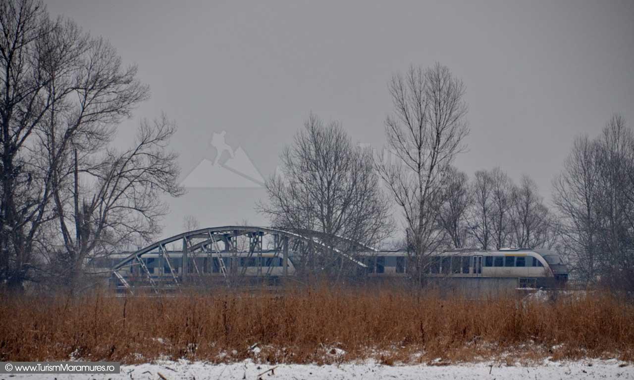 Sageata Albastra pe podul Lapusel