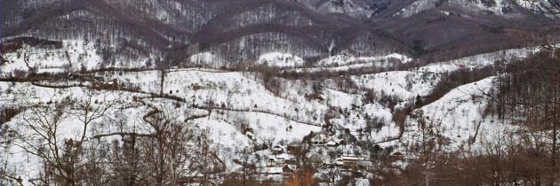 Baia Sprie (Chiuzbaia): Din Chiuzbaia pe vârful Poca si vârful Blidar, iarna
