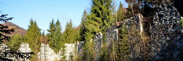 Logolda, cascada Văii de pe Izvor și Piatra Mălnașului din Cavnic, în noiembrie
