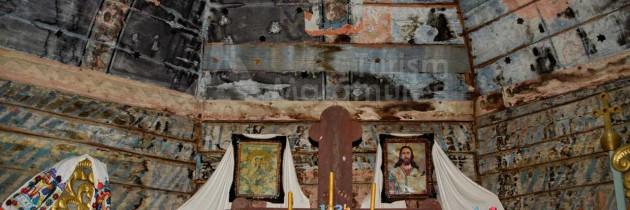 În Culcea, la biserica de lemn Sfinții Arhangheli Mihail și Gavril