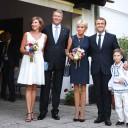 VIDEO: Președintele Franței a vizitat Biserica de lemn Dragomirești (Maramureș)