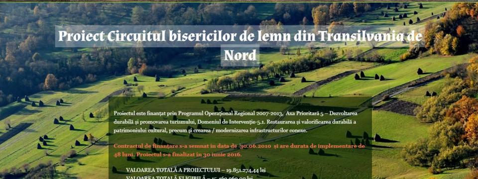 Site slăbuț pentru promovarea circuitului bisericilor de lemn din Transilvania de Nord