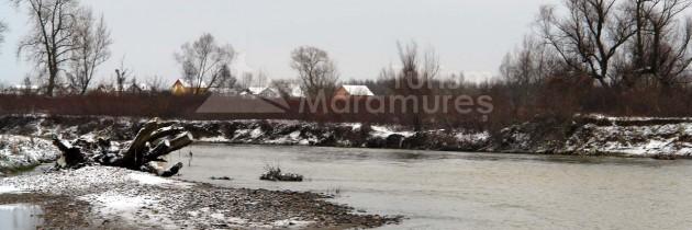 La confluența râului Săsar cu râul Lăpuș, respectiv Lăpușului cu Someș – iarna